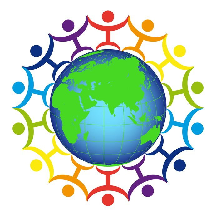 10555852 - logo - people on the earth
